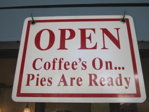 Coffee and pie are calling your name