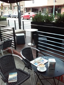Their parklet gives a buffer from the cars on 30th St.