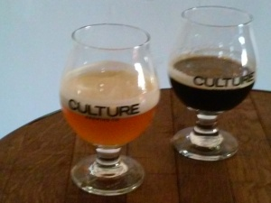 Guess which one is coffee beer...I got it wrong! Coffee IPA on the left and Oaked Imperial Stout on the right