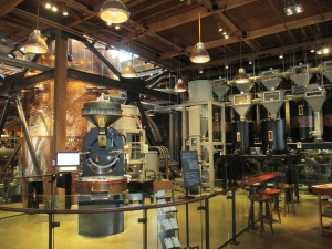 Starbucks new Roastery looked more like a brewery when we first walked in.