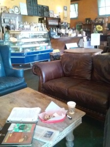 There's plenty of comfortable seating at Rebecca's.