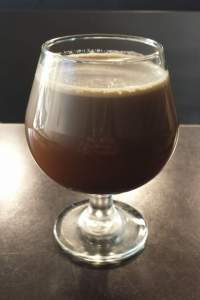 Nitro coffee is served in a goblet at their downtown store.