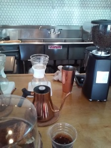 Chemex coffee is one of the options at this creative cafe.
